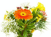 Big bright bouquet with orange flower — Stock Photo