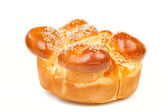 One sabbath challah with many white seed — Stock Photo