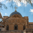 Ancient church of the Holy Sepulchre in Jerusalem — Stockfoto