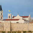 Walls and church of Jerusalem — Stock Photo