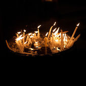 Candles in the Holy Sepulchre on Mount Calvary — Stock Photo