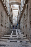Narrow street in the Arab quarter of Jerusalem — Stock Photo