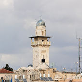 Old minaret near Wailing Wall — Stock Photo