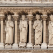 Statues of Jewish kings on Notre Dame de Paris — Stock Photo