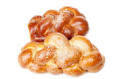 Two braided shabbat challah — Foto de Stock