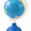 Atlantic Ocean on toy globe — Stock Photo