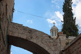 Arch over Via dolorosa street — Stock Photo