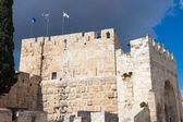 Tower of David, view inside a city — Stock Photo