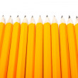 Eleven oranges pencils — Stock Photo