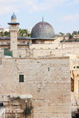 The mousque of Al-aqsa and minaret — Foto de Stock