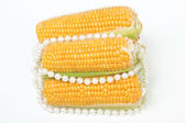 Corn and pearls — Stock Photo