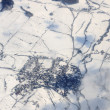 View of small village of aircraft — Stock Photo