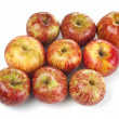 Family striped red apples — Stock Photo