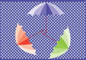 Vector umbrellas — Stock Vector