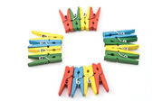 Clothespins — Stock Photo