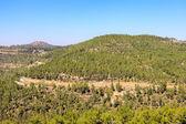 Mountain with road near village Ein Kerem, Jerusalem — Stock Photo