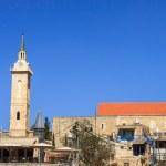 Panorama Ein Kerem, with belfry of John the Baptist, Jerusalem — Stock Photo