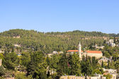 Ein Kerem, with belfry of John the Baptist, Jerusalem — Stock Photo