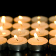 图库照片: Square of candles