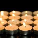 广场的蜡烛 — 图库照片