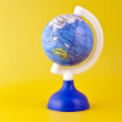 Australia on toy globe — Stock Photo