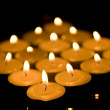 Diamond of candles — Stock Photo #36105653