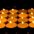 Square of candles — Stock Photo