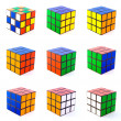 Rubik cubes — Stock Photo