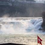 Center of Rhine Falls — Stock Photo