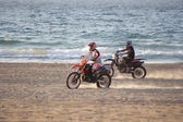 Motorbikes on the beach — Stock Photo