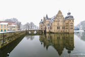 Panorama of castle on water in Dortmund — Stock Photo