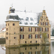 Stock Photo: Water castle Dortmund covered with snow