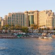 Stock Photo: Eilat, Israel - 23, April 2011: Hotel Hilton Eilat Queen of Sheba