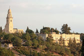 Panorama of old city Jerusalem — Stockfoto