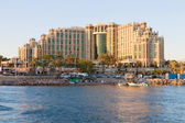 Eilat, Israel - 23, April 2011: Hotel Hilton Eilat Queen of Sheba — Stock Photo