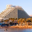 Stock Photo: Hotel Royal Beach on sunset