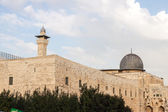 Mousque Al-aqsa and minaret — Stock Photo