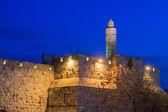 Башня Давида в Иерусалиме — Стоковое фото