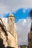 Campanile on the Via Dolorosa street in Jerusalem — Stockfoto