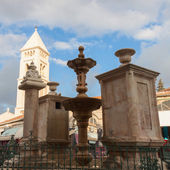 Ancient fountain on the Muristan square in Jerusalem — Foto Stock