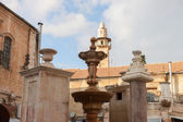 Fountain in the square Muristan in Jerusalem — ストック写真