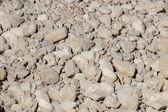 Rocky bottom of dry river — Stock Photo