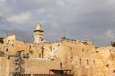 Building and minaret near Wailing Wall — Stock Photo