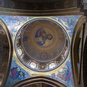 Painted ceiling dome Holy Sepulcher — Stock Photo