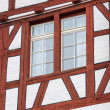 Stock Photo: Window on timbered wall