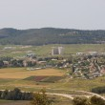 Panorama of wide valley near Beit Shemesh — Stock Photo #42392767