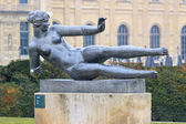 Bronze sculpture Air in Tuileries park — Stock Photo