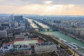Panorama of Paris from Eiffel tower — Stock Photo