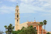 Belltower of monastery saint Peter — Stock Photo