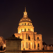Cathedral Les Invalides in Paris at night — Stock Photo #45418649